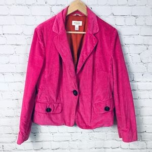 TALBOTS | Vintage Pink Corduroy Blazer